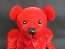 GUND SATIN RED BOW TEED DUBEARY 8732 LOVEY BEAR SOFT PLUSH STUFFED ANIMAL TOY