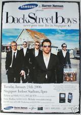 BACKSTREET BOYS 2006 SINGAPORE CONCERT TOUR POSTER
