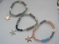 Armband Armschmuck Armreif Gummiarmband Stern Glasperlen Perlen