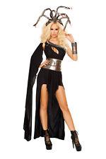 Sexy 5 Pc Women's Adult Medusa Long Dress & Snake Headband Halloween Costume Set