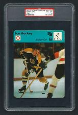 PSA 8 BOBBY ORR 1977 Sportscaster Hockey Card #01-02 ITALY