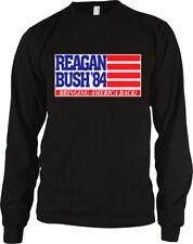 Reagan Bush 84 Bringing America Back American Flag Campaign Poster Men's Thermal