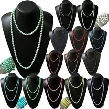 Kette Lange Halskette Wickelkette Perlenkette Modeschmuck Armband Perlen 8mm VZ8