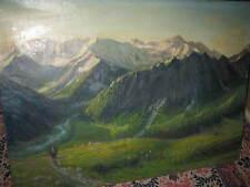 STREICHER Adolf, *1879 Bergsteiger vor Alpenpanorama