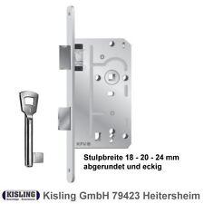 Zimmertürschloss BB WC Türschloss Einsteckschloss Stulp 18 20 24 rund käntig