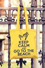 Keep Calm And Go To The Beach Canvas Tote Bag Shopper