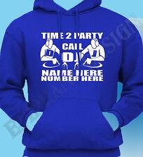 DJ Kapuzenpulli Hoodie Mobile Personalisieren Name Nummer Rave Disco Inserieren
