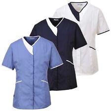 Onorevoli Moderna Tunica Blusa Camicia lavoro infermiera cura casa, prendendosi cura accoglienza lw13