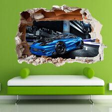 Super Sports Race Car Wall Stickers 3d Art Mural Decal Home Office Decor SJ9