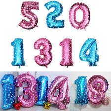 Feuille fête ballons hélium anniversaire numéro mariage solide couleur forme