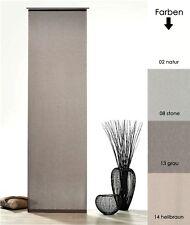 Schiebegardine Batist Optik Natur Matt mit Zubehör Schiebevorhang Gardine Typ410