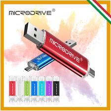 PENDRIVE 16 32 64 128 GB CHIAVETTA USB 2.0 3.0 OTG MICRO SMARTPHONE PEN DRIVE