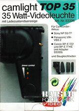 Kaiser Camlight Top 35 Videoleuchte #93396 mit Akku Adapter # 93399 - (9431)