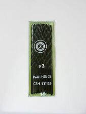 STIMZET 3.0 - 3.5mm x 100 - 112mm Long HSS Straight Shank Twist Drill Bits 10pc