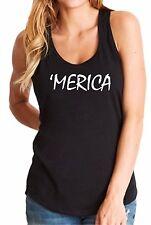 Ladies Tank Top Merica #2 T Shirt Americana Pride Patriotic T-Shirt Labor Day