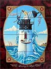 Lighthouse Tile Backsplash Parker Nautical Art Ceramic Mural POV-EP009