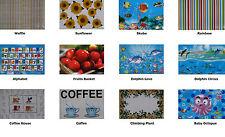 Set of 4 - Easy care PVC Placemats - 44cm x 28.5cm - 12 designs