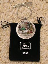 1999 John Deere Pewter Christmas Ornament