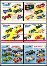 Scalectrix 1961-62 vintage cars Multi Print..FREE POSTAGE for UK