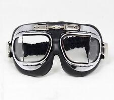 Premium RAF Style Pilot Goggles - Colour Option - Flying Aviator Biker Helmet