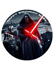 "Star Wars Kylo Ren Personalised Cake Topper 8"" Edible Wafer paper/icing sheet"