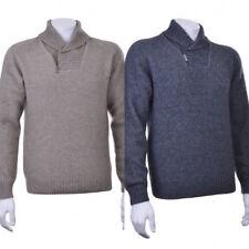 New Zealand Possum Fur Merino Wool Shawl Neck Collar Jumper Sweater Short Zip