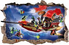 WANDAUFKLEBER Loch in der Wand 3D LEGO NINJAGO Wand Aufkleber Wandtattoo 83