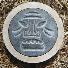 gostatue MOLD Tiki face stepping stone plastic mold concrete plaster