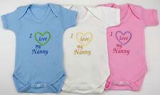 I Love My Nanny Nan Grandma Nana Nanna Babies Vest Grow Baby Clothes Funny Gift