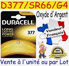 Piles boutons D377 SR66W G4 DURACELL Oxyde Argent - Montre Horlogerie Bijouterie