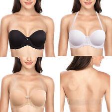 Women Strapless Backless Plus Size Bra Multiway Push Up Lingerie Underwear B-F G