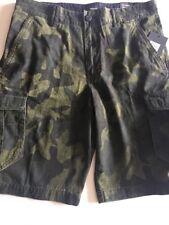 """New Hurley Men's 31 33  Mayhem Cargo Shorts Camo Relaxed 23"""" MWS0005760"""