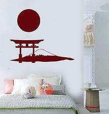 Vinyl Wall Decal Japanese Gate Mountain Sun Art Japan Stickers Murals (ig4872)