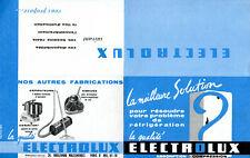Publicité Electrolux  réfrigérateur - frigo frigélux - aspirateur électroménager