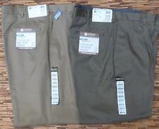 HAGGAR NO IRON KHAKI MENS CASUAL TWILL PANTS AT WAIST STRAIGHT LEG LIST $55