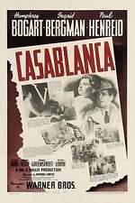 042 vintage poster artistico film casablanca