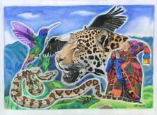 Kunstdruck Q'ero Schamane Kunst Schamanismus Peru Anden Südamerika Machu Picchu!