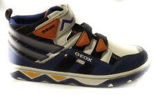 Geox J03f4b 004ce c0432 scarpa da bambino colore royal e bianco chiusura a strap