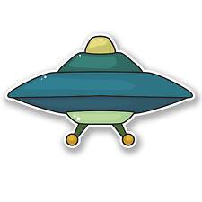 2 x UFO Alien Vinyl Sticker Decal iPad Laptop Spaceship Space Travel Cool #5451
