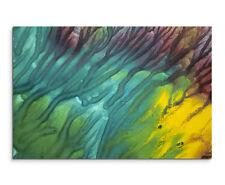 Wandbild Fotografie Druck Leuchtendes Aquarell mit Struktur auf Leinwand