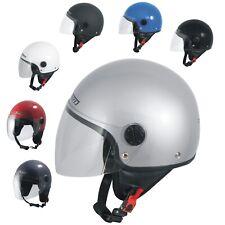 Open Face Jet Helmet Moped Motorbike Scooter Antiscratch Visor SonicMoto