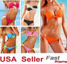 Sexy Women Push up Multi Color Swimsuit Bikini Padded Beach Bathing Swimwear
