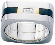 Dolan Bullock Verona Stainless Stl  18k gold w/diamond ring nrg12600b msrp $380