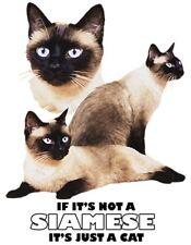Siamese Cat Shirt - Not Siamese -  Just A Cat - Sm - 5X - Meezer - Cat Fancier
