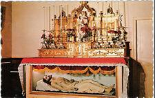 Postcard Quebec City Notre-Dame-Des-Victoires Church St Genevieve Altar