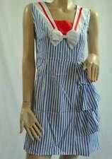 TOFU Sommerkleid mit Volants blau - weiß gestreift Neu