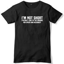 No estoy corto estoy construido baja a la tierra de velocidad para Hombre Divertido Camiseta