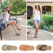 Women Ladies Summer SlippersThong Flip Flops Flat Sandals Beach Shoes Size 7-10