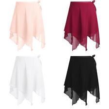Adult Women Girl Chiffon Ballet Leotard Tutu Wrap Scarf Skirt Dance Skate Wear
