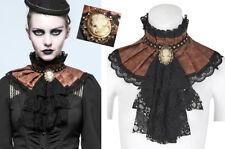 EN STOCK Col jabot collerette steampunk gothique baroque cuir dentelle PunkRave
